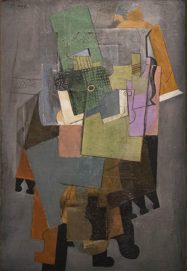 Pablo Picasso, Instruments de musiqua sur un guéridon, 1914-1915, Fondation Pierre Bergé - Yves Saint Laurent, Paris