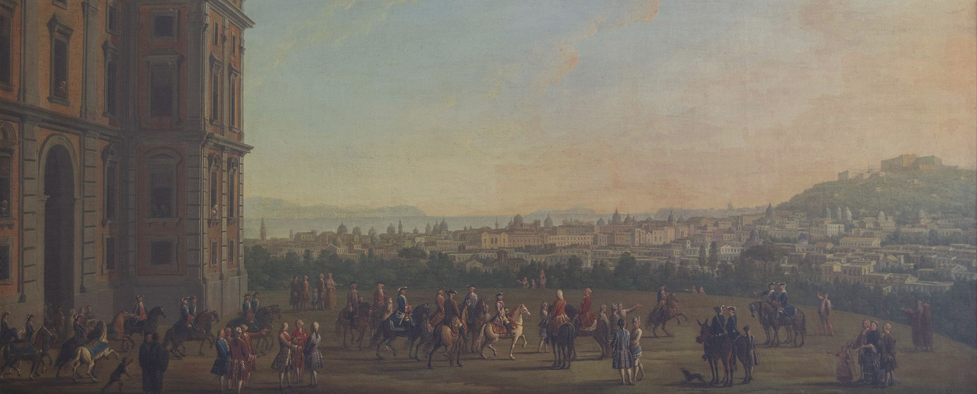 Antonio Joli, Ferdinando IV a cavallo con la corte, Foto di Alessio Cuccaro
