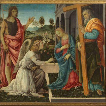 Filippino Lippi_ Annunciazione e Santi inv. Q 42 olio su tavola cm 114 x 122 Napoli, Museo e Real Bosco di Capodimonte