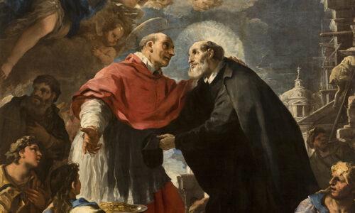 Incontro Tra San Carlo Borromeo E San Filippo Neri
